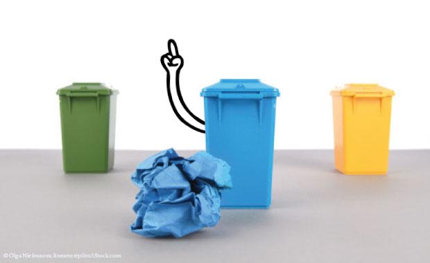 Stinkende Mülltonne